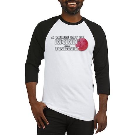 Screaming Kickball (Front) Baseball Jersey