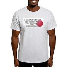 Screaming Kickball (Front) Ash Grey T-Shirt