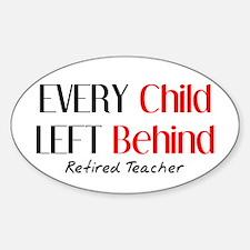 Retired Teacher II Sticker (Oval)