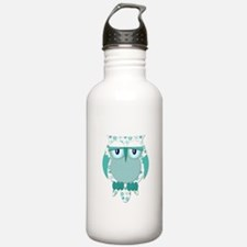 Winter Snow Owl Water Bottle