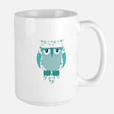 Winter Snow Owl Large Mug