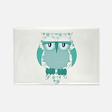 Winter Snow Owl Rectangle Magnet