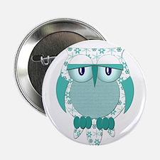 "Winter Snow Owl 2.25"" Button"