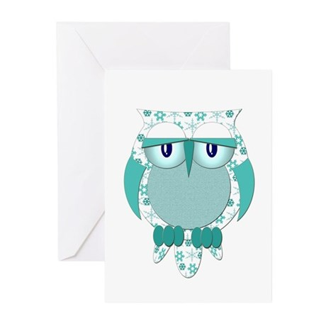 Winter Snow Owl Greeting Cards (Pk of 20)