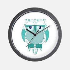 Winter Snow Owl Wall Clock