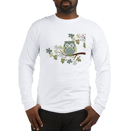 Polka Owl in Tree Long Sleeve T-Shirt
