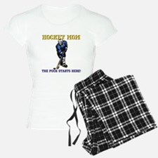 Hockey Mom-Puck Starts Here Pajamas