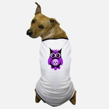 Purple Sugar Skull Owl Dog T-Shirt