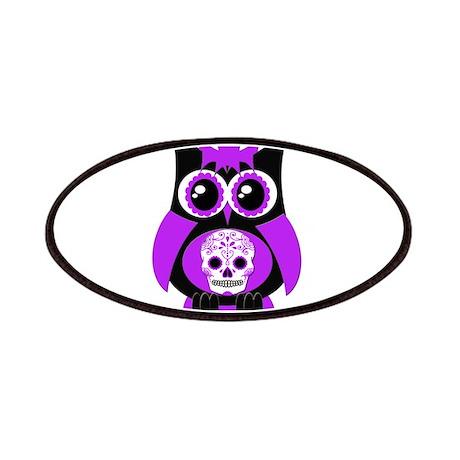 Purple Sugar Skull Owl Patches