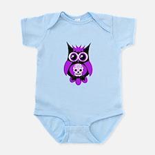 Purple Sugar Skull Owl Infant Bodysuit
