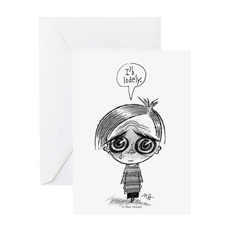 I'b Lodely Greeting Card