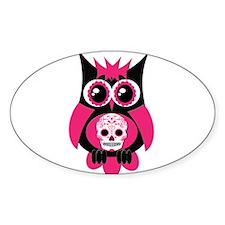 Pink Sugar Skull Owl Decal