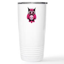 Pink Sugar Skull Owl Travel Mug