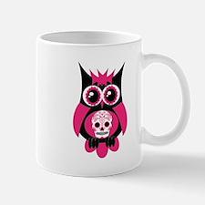 Pink Sugar Skull Owl Mug