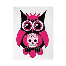 Pink Sugar Skull Owl Twin Duvet