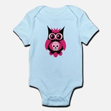 Pink Sugar Skull Owl Infant Bodysuit