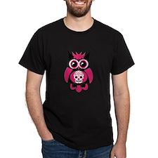 Pink Sugar Skull Owl T-Shirt