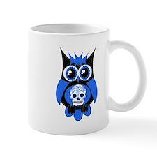 Blue Sugar Skull Owl Mug