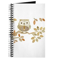 Owl with Tie in Tree Journal