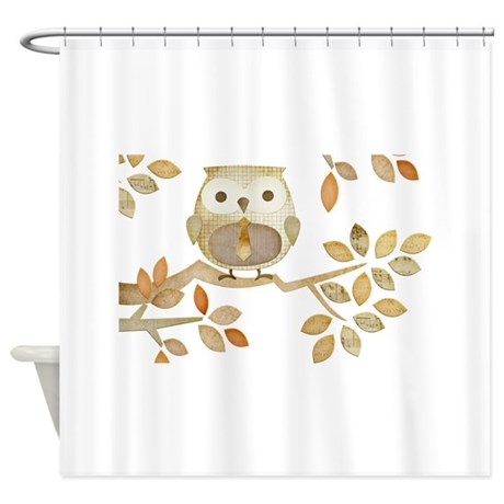Owl With Tie In Tree Shower Curtain By Natureslittletreasures