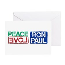 Peace Love Ron Paul Greeting Cards (Pk of 10)