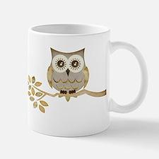 Wide Eyes Owl in Tree Mug