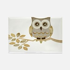 Wide Eyes Owl in Tree Rectangle Magnet