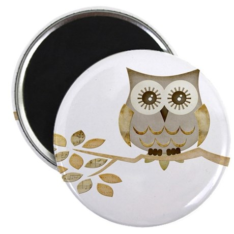 "Wide Eyes Owl in Tree 2.25"" Magnet (100 pack)"