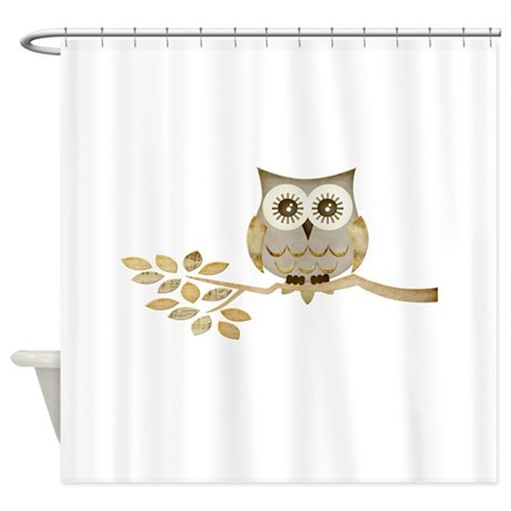 Wide Eyes Owl In Tree Shower Curtain By Natureslittletreasures