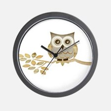 Wide Eyes Owl in Tree Wall Clock