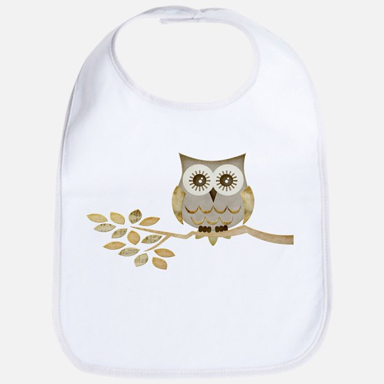 Wide Eyes Owl in Tree Bib