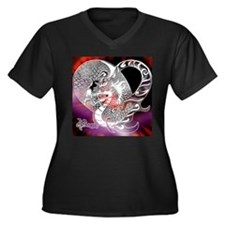 Cool Fantasy science fiction Women's Plus Size V-Neck Dark T-Shirt