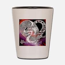 Unique Red dragon fire Shot Glass