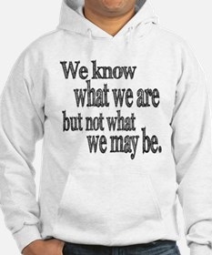 Shakespeare Know Not What We May Be Hoodie