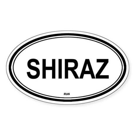 Shiraz, Iran euro Oval Sticker