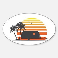 California Streamin' Sticker (Oval)