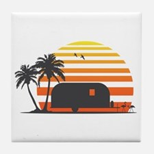 California Streamin' Tile Coaster