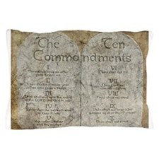 Ten Commandments 10 Laws Desi Pillow Case