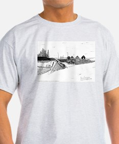 Digby Boats Pen and Ink Ash Grey T-Shirt
