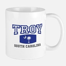 Troy South Carolina, SC, Palmetto State Flag Mug