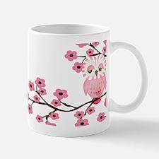 Cherry Blossom Owl Mug