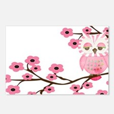Cherry Blossom Owl Postcards (Package of 8)