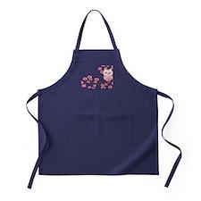 Cherry Blossom Owl Apron (dark)