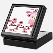 Cherry Blossom Owl Keepsake Box
