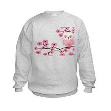 Cherry Blossom Owl Sweatshirt