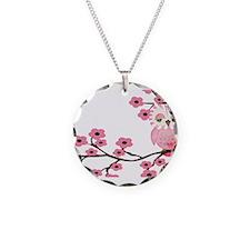 Cherry Blossom Owl Necklace
