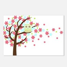 Pink Windy Tree Owl Postcards (Package of 8)