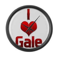 I Heart Gale Large Wall Clock