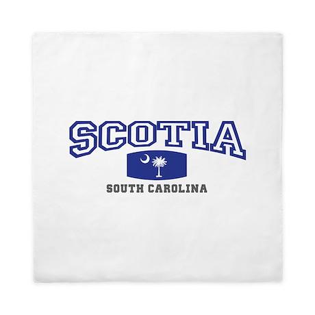 Scotia South Carolina, SC, Palmetto State Flag Que