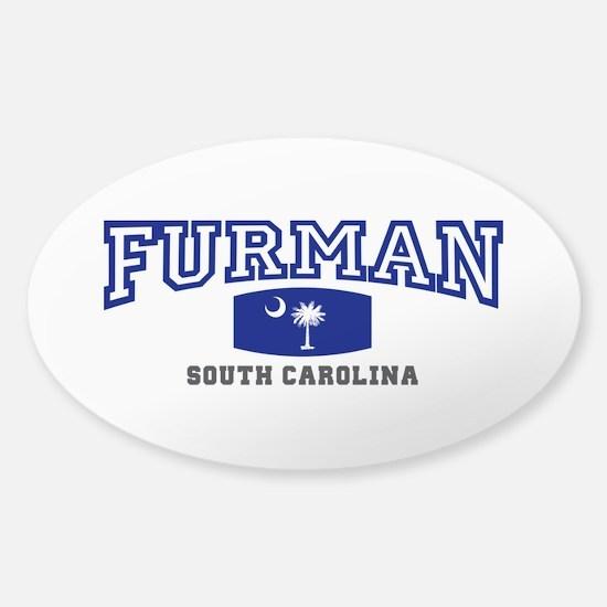 Furman South Carolina, SC, Palmetto State Flag Sti